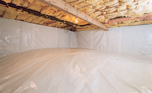 Crawl Space Moisture Barrier After in Arlington