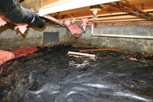 Crawl Space Repair Before in Washington D.C.