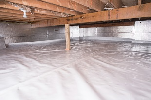 crawl space vapor barrier in Sterling installed by our contractors