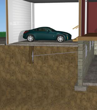 Graphic depiction of a street creep repair in a Burke home