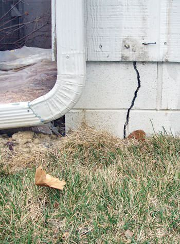 foundation wall cracks due to street creep in Potomac