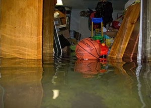 Flooded basement in Washington D.C.
